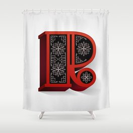 The Letter R Shower Curtain
