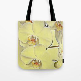 "A series of ""Favorite pillows """"Yellow Orchid"" Tote Bag"