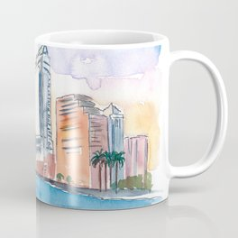 Austin Texas Skyline During Sunset Coffee Mug
