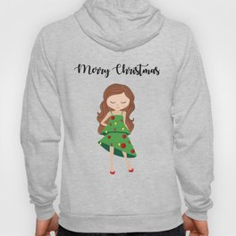 I am a Christmas Girl - Christmas tree inspired Hoody