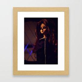 Goth princess Framed Art Print