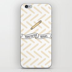 Penne For Your Thoughts. iPhone & iPod Skin