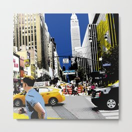 West 34th Street - NYC Metal Print