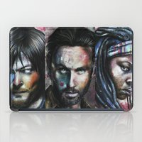rick grimes iPad Cases featuring Rick Grimes by Jhaiku