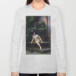 TRUTH COMING OUT OF HER WELL TO SHAME MANKIND - JEAN-LEON GEROME Long Sleeve T-shirt