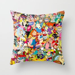 Childhood Cartoons Throw Pillow