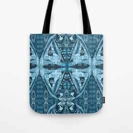 Haida Mask: Digital Quilt Design Tote Bag