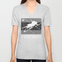 FREEDOM! Snowmobile Unisex V-Neck