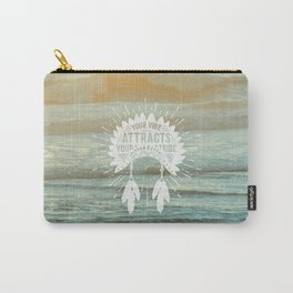 Your Vibe Attracts Your Tribe - Beach Sunset Carry-All Pouch