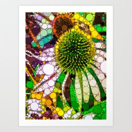 Prickly flower to you Art Print