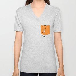 Alex Vause Glasses with Fake Print Pocket Unisex V-Neck