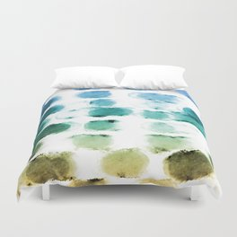 On the Beach Watercolor Painting Abstraction Duvet Cover