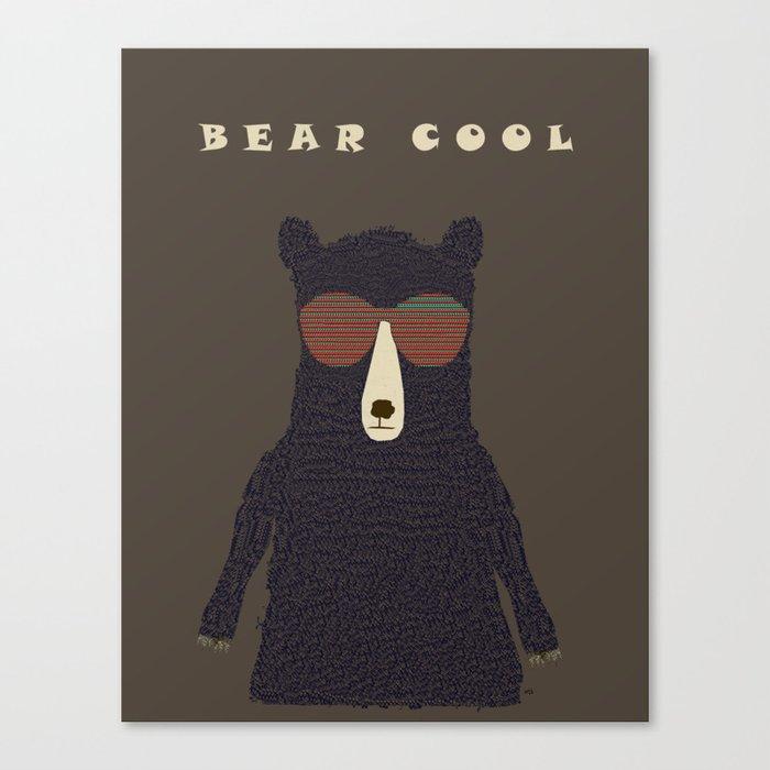 bear cool Canvas Print