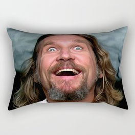 Jeff Bridges As The Dude Rectangular Pillow