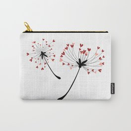Floating Dandelion Heart Seeds by Cam Fam Creations Carry-All Pouch
