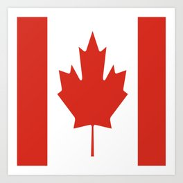 red maple leaf flag of Canada Art Print