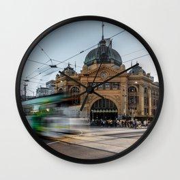 flinders station Wall Clock