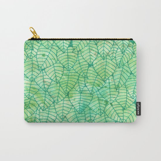 Green foliage Carry-All Pouch