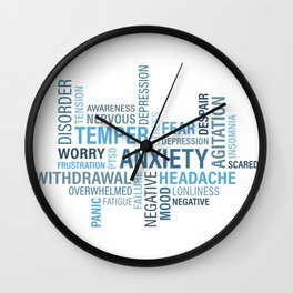 Anxiety 4 Wall Clock