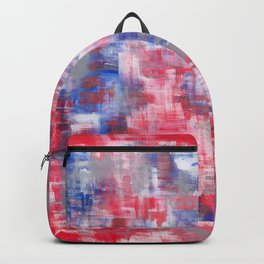 Red &blue painting. Cool abstract art. Contemporary art. Backpack