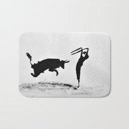 Bulls and bullfighters of Picasso II Bath Mat