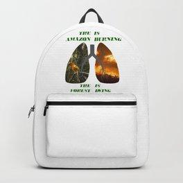 The Amazon is burning Backpack