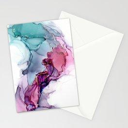 Lavender Swirl Aqua Pulse Stationery Cards