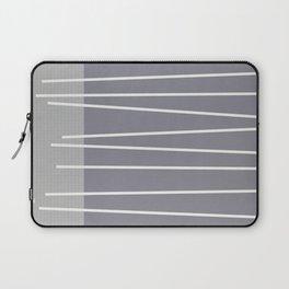 Mid century modern textured gray stripes Laptop Sleeve