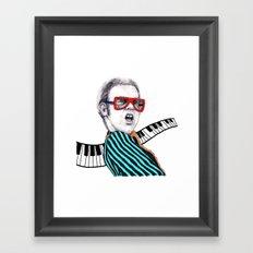 Vintage Elton - Analog Zine Framed Art Print