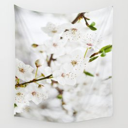 White blooming Wall Tapestry