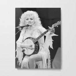 Dolly Parton music star pop music Silk poster Metal Print