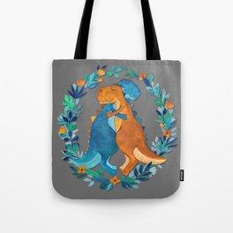 Dino Hugs Tote Bag