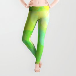 Colorful Abstract - green pattern, forest, nature Leggings