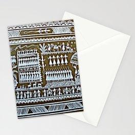 Tribal Art Saura Painting Graffiti, Odisha, India Stationery Cards