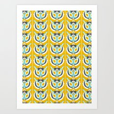 Songbird Tulips Art Print