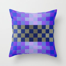 Blue Sky With A Cloud In Pixel Throw Pillow