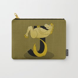 Pony Monogram Letter J Carry-All Pouch