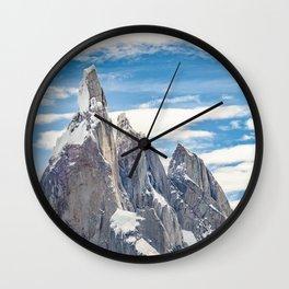 Cerro Torre. Parque Nacional Los Glaciares. Argentina Wall Clock