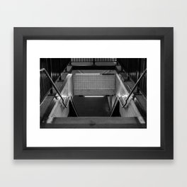 Subway Lines Framed Art Print