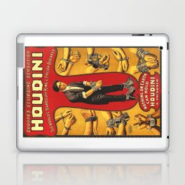 Houdini, vintage theater poster, color Laptop & iPad Skin