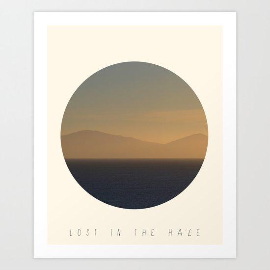 Lost In The Haze Art Print