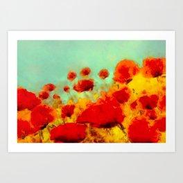 FLOWERS - Poppy time Art Print