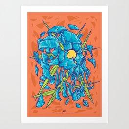 (Des)Integration Series - Blueskull Art Print