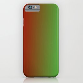 Ombre in Red Green iPhone Case