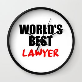 worlds best lawyer Wall Clock
