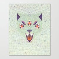 cosmic Canvas Prints featuring Cosmic Cat by LordofMasks