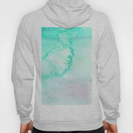 Blush pink teal aqua watercolor modern ombre Hoody