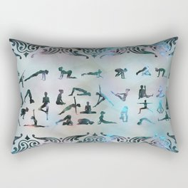 Labradorite Yoga Asanas  on mother of pearl Rectangular Pillow