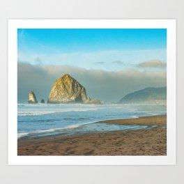 Cannon Beach Oregon, Haystack Rock Art Print