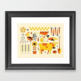 Farm Food Framed Art Print
